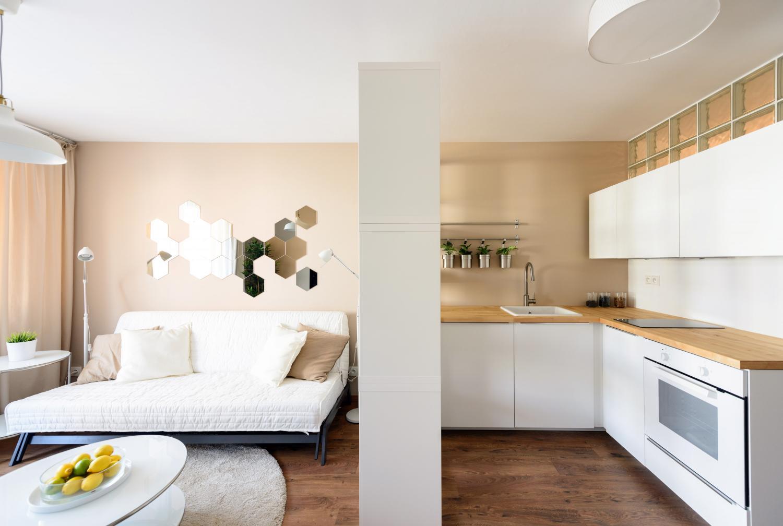 Ikea Interior des Ein-Zimmer-Wohnung, Bratislava, Slowakei ...
