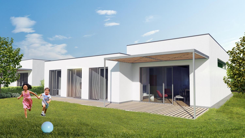 bungalows in der n he von wald trnava slowakei rules architekten. Black Bedroom Furniture Sets. Home Design Ideas