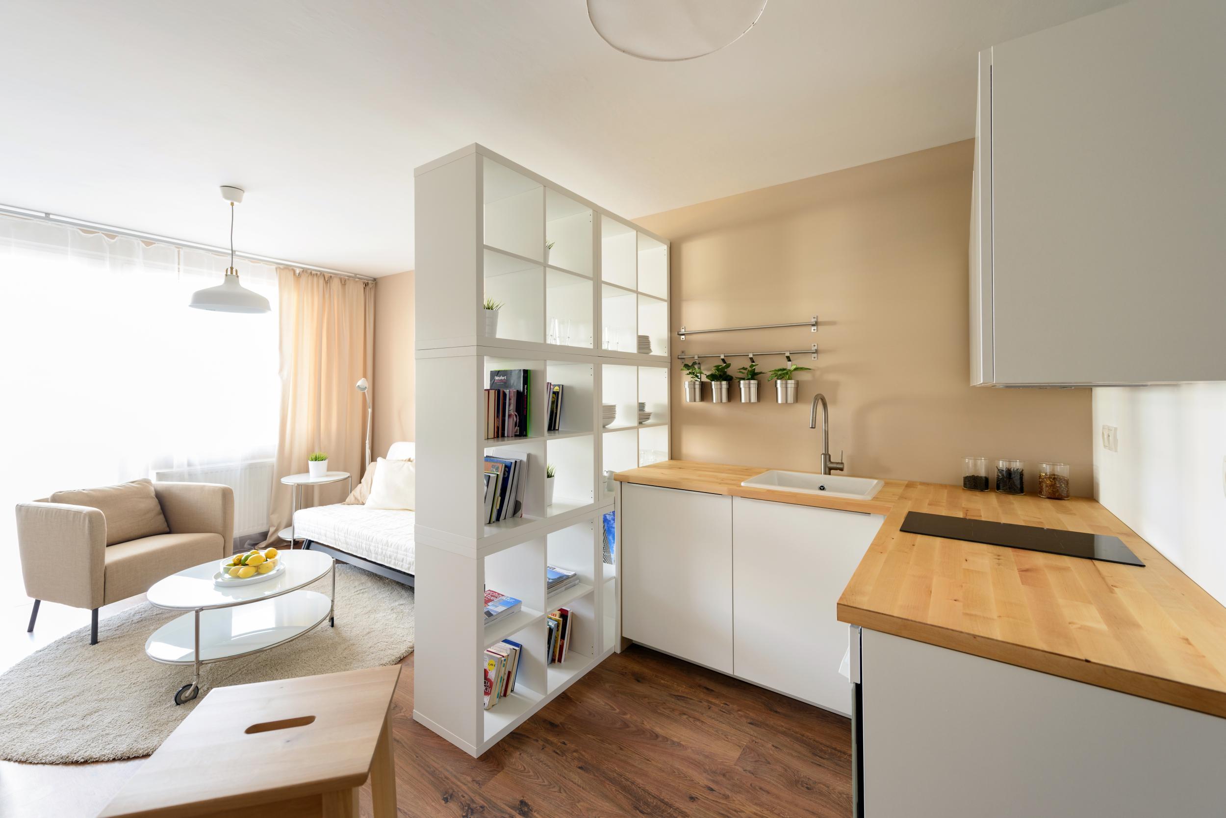 ikea interior des ein zimmer wohnung bratislava slowakei rules architekten. Black Bedroom Furniture Sets. Home Design Ideas