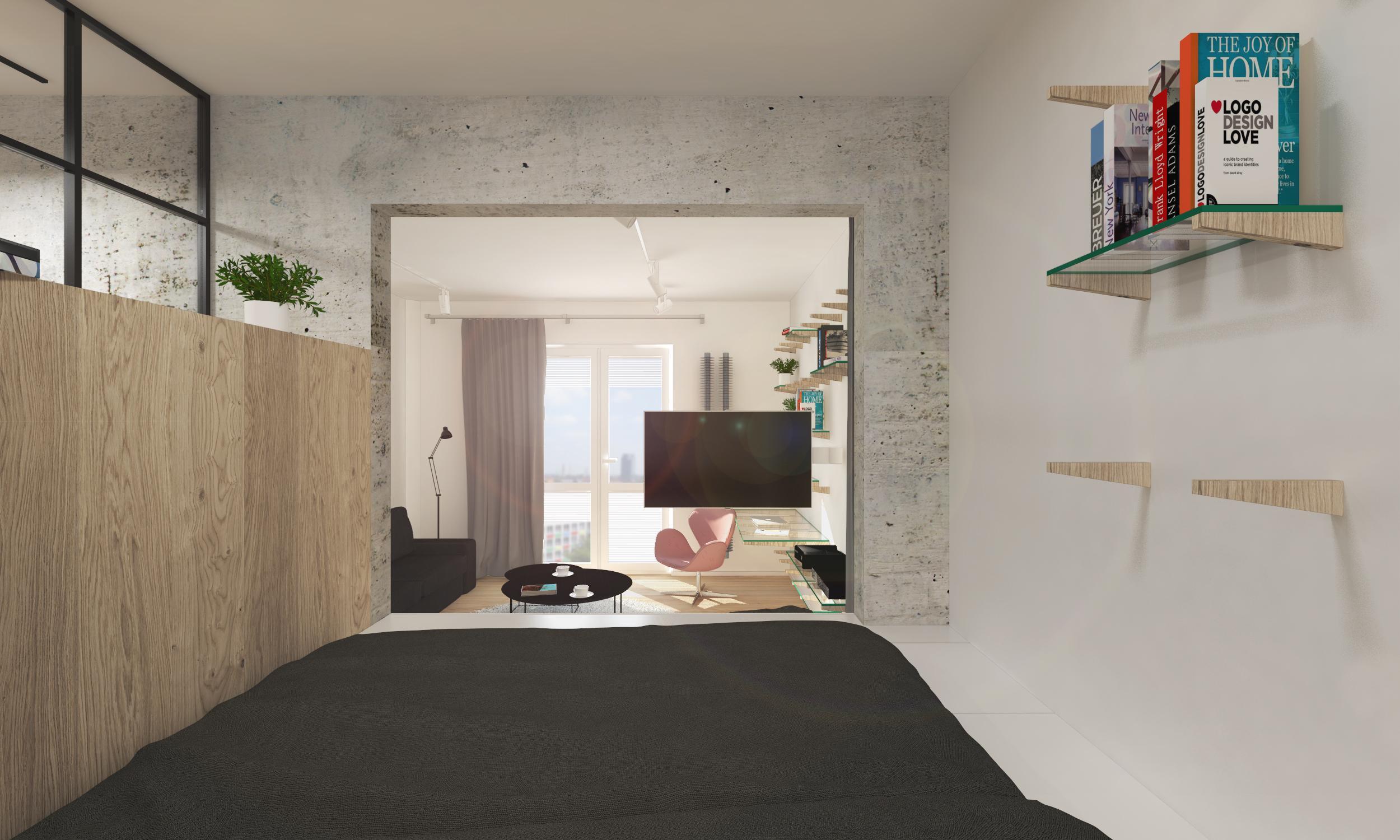 umbau von ein zimmer wohnung bratislava slowakei rules. Black Bedroom Furniture Sets. Home Design Ideas