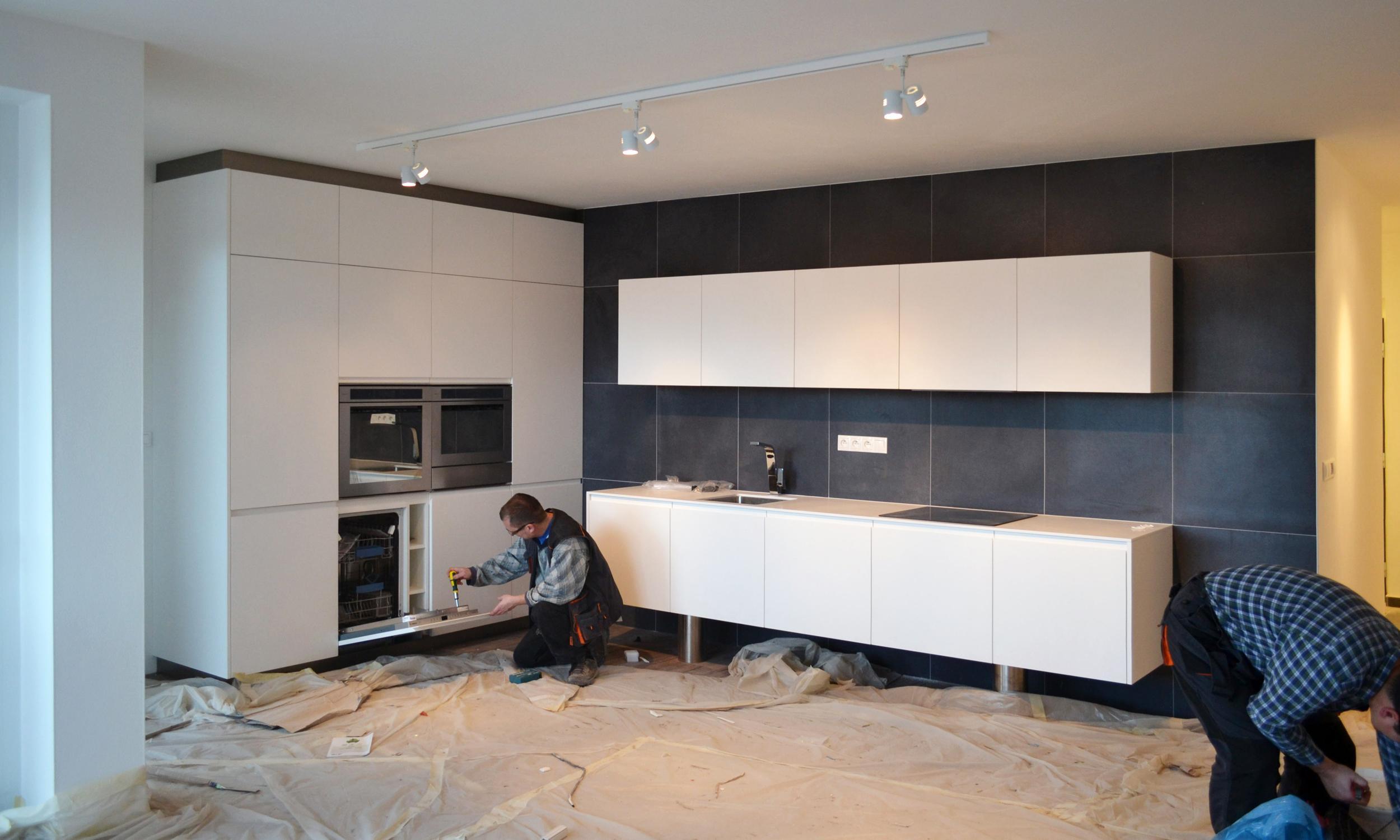 innenarchitektur aus einem wohnzimmer mit k che und esszimmer bratislava slowakei rules. Black Bedroom Furniture Sets. Home Design Ideas